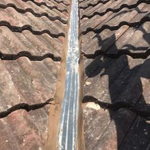 roof drainage before